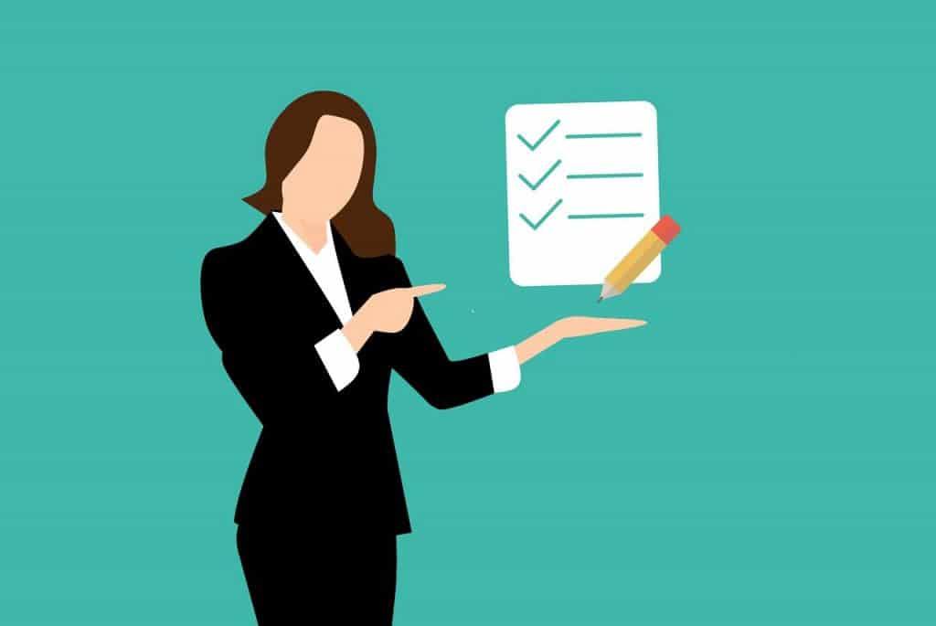 checklist, business, businesswoman