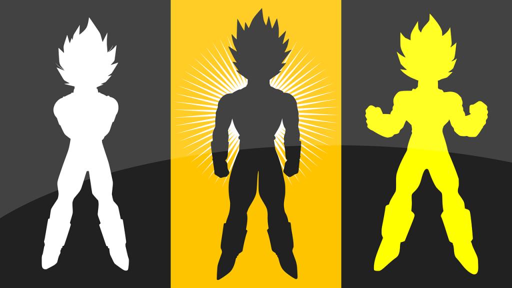 dragon ball, silhouettes, anime